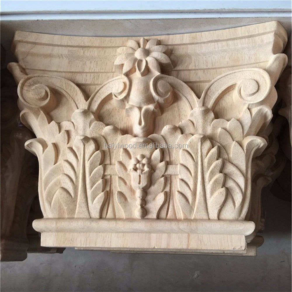 Home Decor Carved Wood Capitals