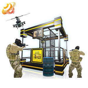 Latest Vr games factory Indoor vr gun shooting tower 9d vr game machine