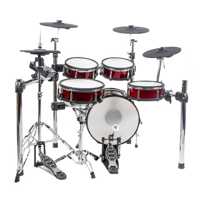 Lemon T850 Mesh Kepala Digital Kayu Drum Set 9 Buah Elektronik Drum Perkusi Jazz