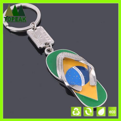 funy personalizable de regalo flip flop deslizador anillo de llavero de metal llaveros