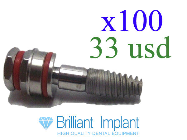 Dental Implant internal hex x100 only 33 usd 2014