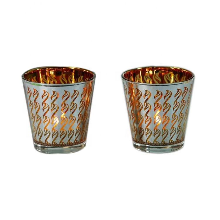 Decorative products glass table candle holder wedding