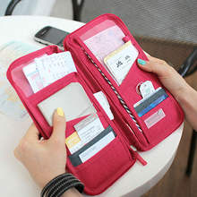 ID Coupon Organizer with Zipper Pocket For Passport