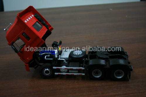 Custom made gegoten metalen jac 1/50 schaal oplegger truck model kits China fabriek