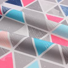 Ready to ship 228T polyester taslan colorful triangle pattern print for baby wear and sports suits