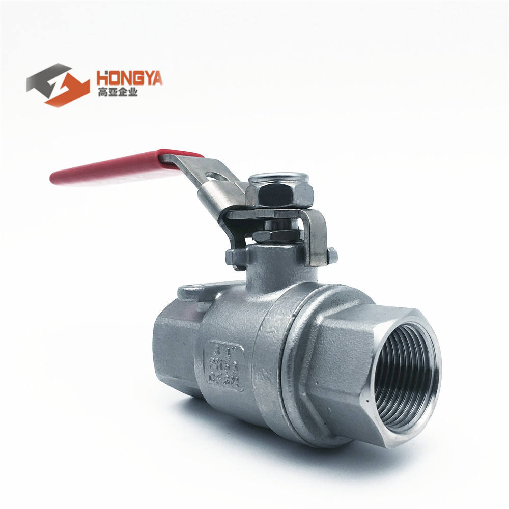 Stainless Steel M3 2PC IC ball valve NPT BSP Long type