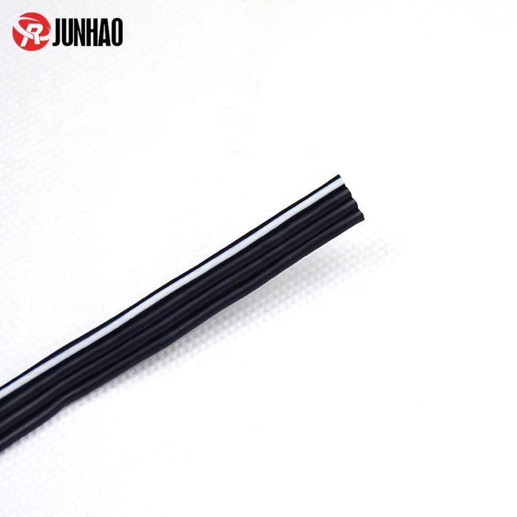 Custom 4 Core Flat Wire Cable Silicone Rubber Flat Ribbon Wire Flat Electrical Wire Manufacturer