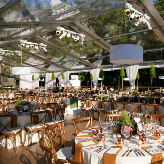 Used frame canopy waterproof transparent wedding party tent marquee