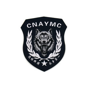 Textile Badges Factory Personalized Design Custom Tactical Flight Navy Logo Embroidered Patch