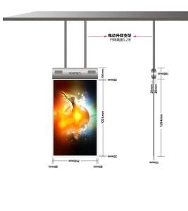 55'' OLED Hanging Double Side media player digital signage indoor advertising lcd screen