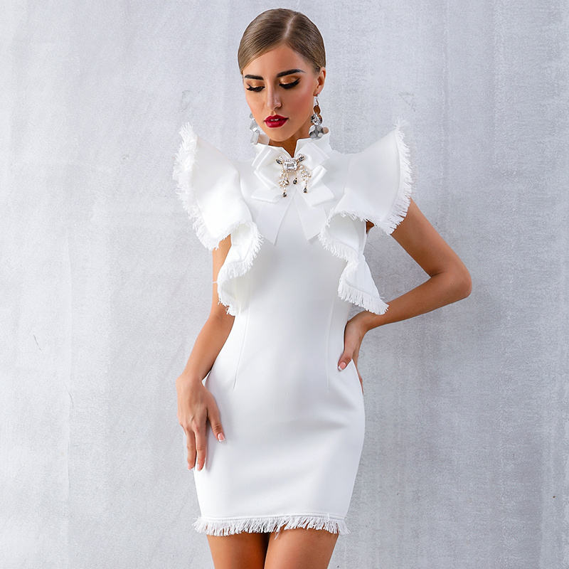 A2769 MIGO 2020 new style white sleeves elegant space cotton mini exy fashion dress for women party wear