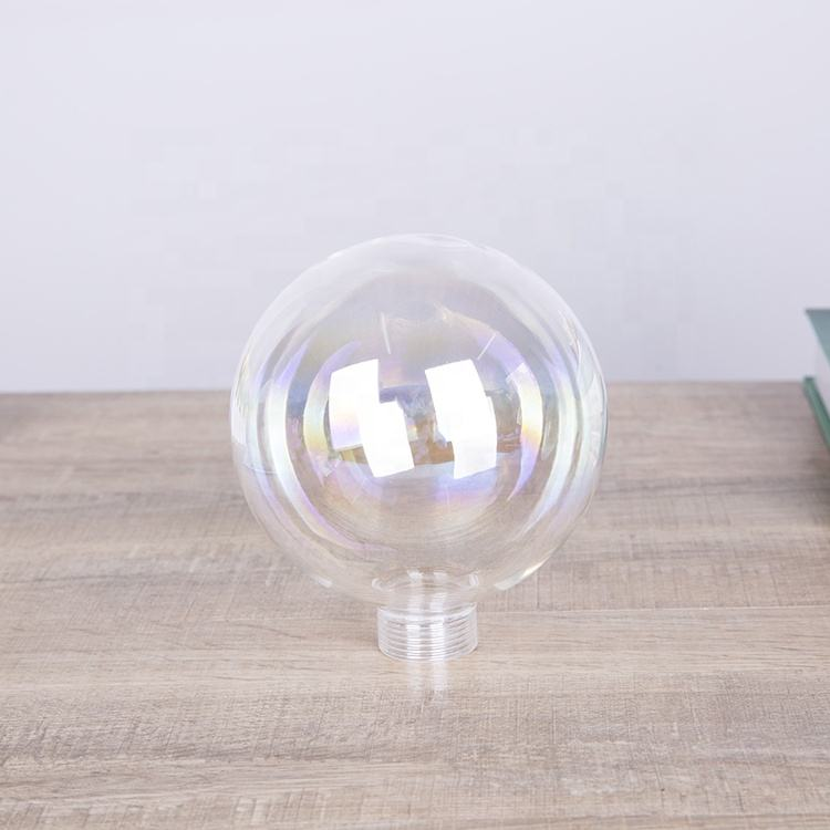 100mm diameter transparent crystal glass double wall lamp shade
