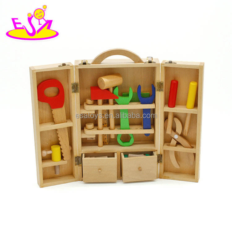 Wholesale cheap educational wooden mini tool set toy for children W03D008
