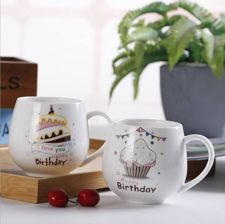 400ml 16OZ Promotional Custom Logo ceramic Coffee mug for company advertising