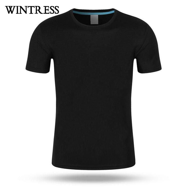 Customizable Unisex t shirt oem design your own plain black t shirt for men,custom 50 polyester 25 cotton 25 rayon t shirt