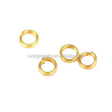 cheap sale flexible Jewelry findings Wholesale brass golden plated double jump rings for jewelry connecting