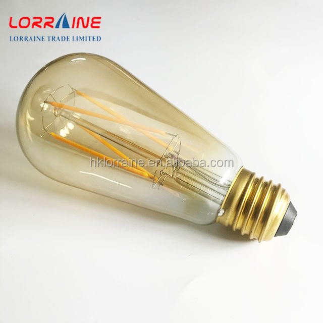 Dimmable 8W ST64 Led Filament Light Bulb 2700K Soft White Incandescent Equivalent E26