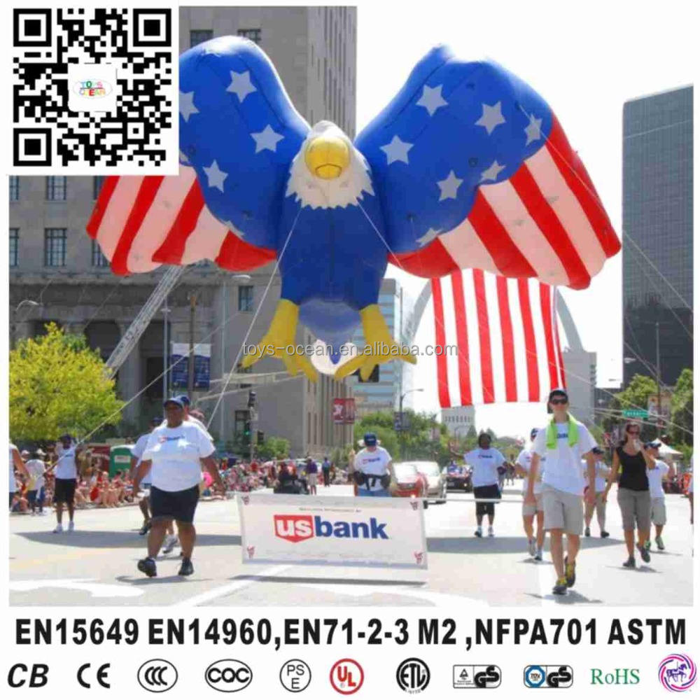 Inflatable helium eagle printing with flag sky balloons for carnivals for sales
