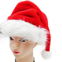 Faux Fur Red Plush Christmas Hat