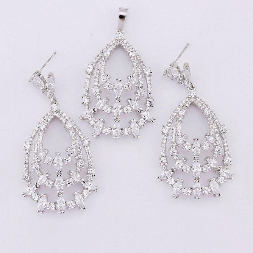 guangxi foxi nepali silver jewellery manufacturers earring set for women