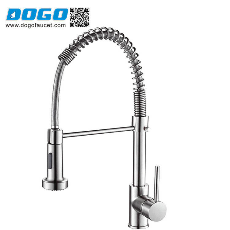 2019 Promotion selling Pull Out Spray UPC Kitchen Faucet In Chrome
