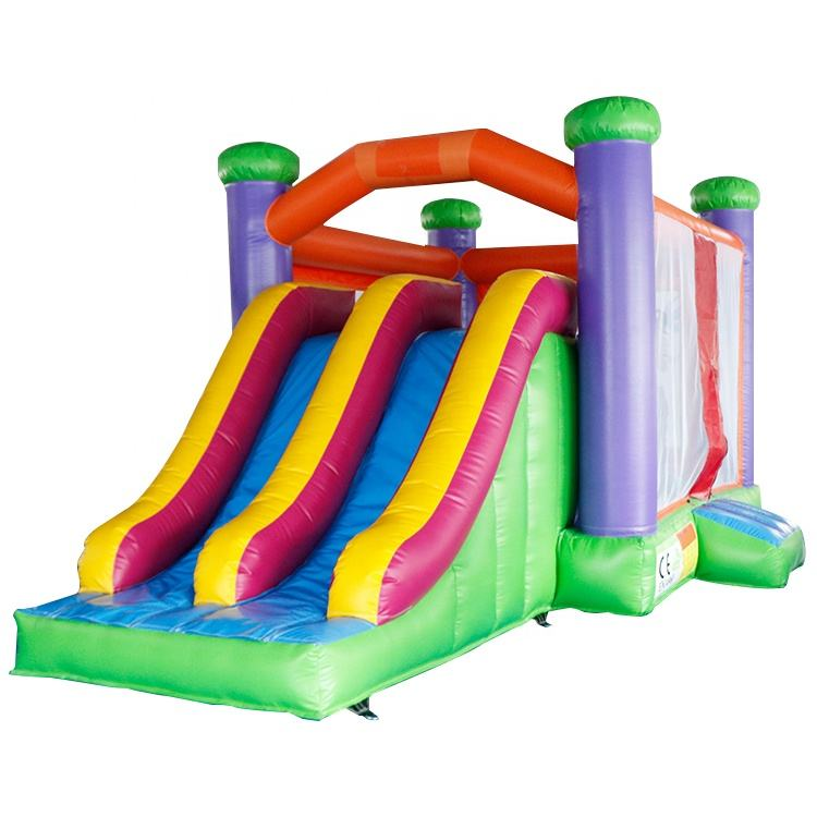 Commercial classic 6*3m inflatable bouncy castle with slide combo jumping house inflatable bounce house for kids party
