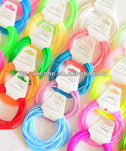 cheap custom silicone soft jelly fluorescent bracelets