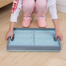 Stackable heavy duty folding storage box for clothing with lids