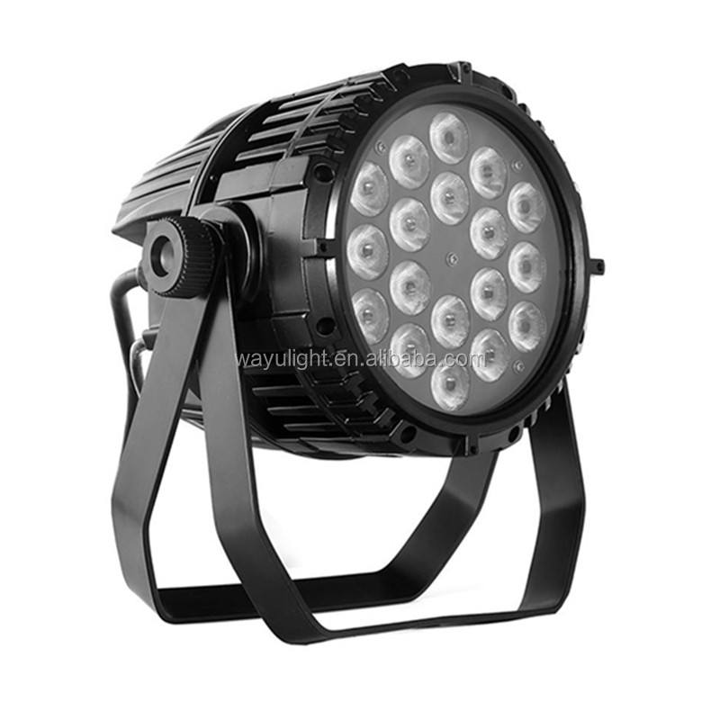 야외 18x10 와트 LED 파 빛 IP65 RGBW 4 in 1 Waterproof led stage 파 parcan