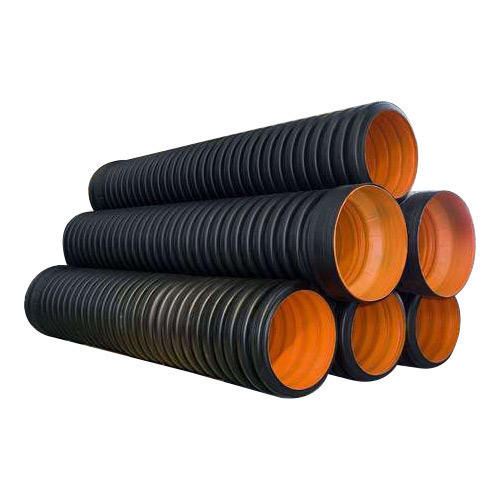 double wall corrugated hdpe pipe plastic pipe drain tube PE Culvert for agricultural subsurface drainage