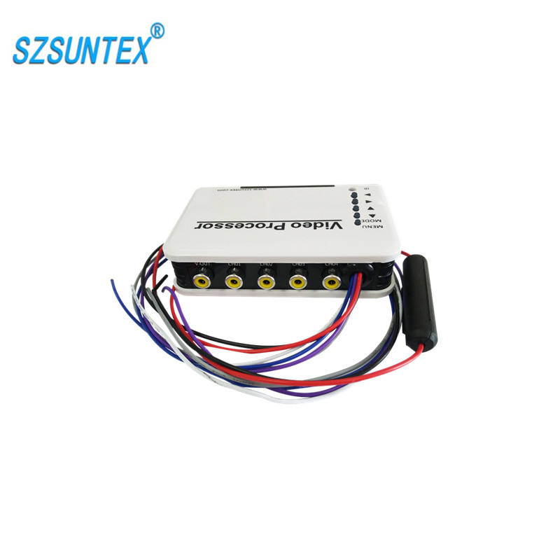 4 channel vehicle monitoring product car video multiplexer for driving parking reversing