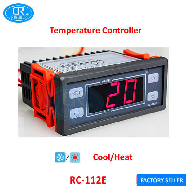 RINGDER RC-112E Cool Heat ON/OFF Relay Switch All Purpose Digital Temperature Gauge