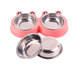 Stainless Steel Frog Shaped Double Pet Bowl Cat Two Use Dog Food Water Feeder Dog Bowls