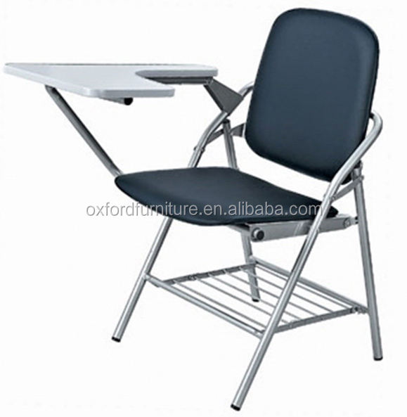 folding writing chair training room chair