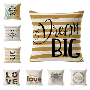 China Supplier / Dream Big Motivational Sign Inspirational Quote Pillow Case with Words for Sofa Couch