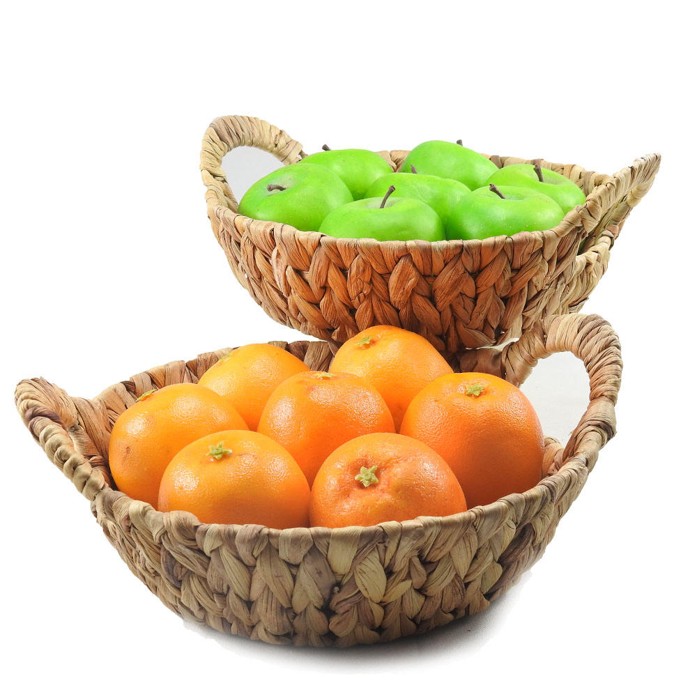 Sample Free Natural sea grass multi functional home fruit and snack storage weaving basket with handle
