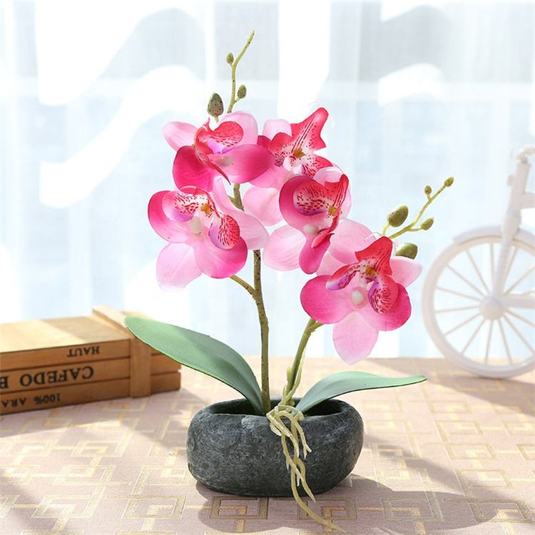 V-1230 Wholesale Artificial Flowers Phalaenopsis Bonsai Orchid For Decoration