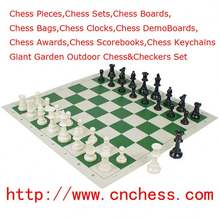 "Tournament Standard Club Chess Set & Board With King Tall 3 3/4"" And 20""X20"" Board"