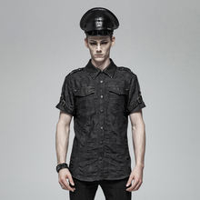 WY-1006 PUNK RAVE 2019 new hot fashion Punk Simple Short Sleeve Shirt