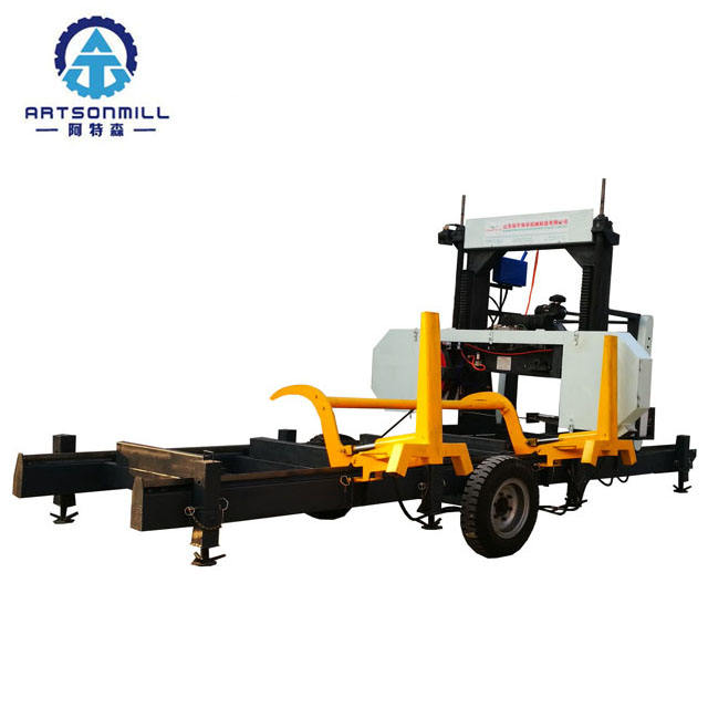 diesel horizontal log band saw for wood