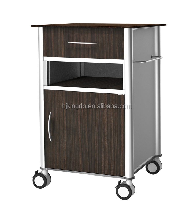 Multi-function Aluminum Hospital Bedside Cabinet with Wheels