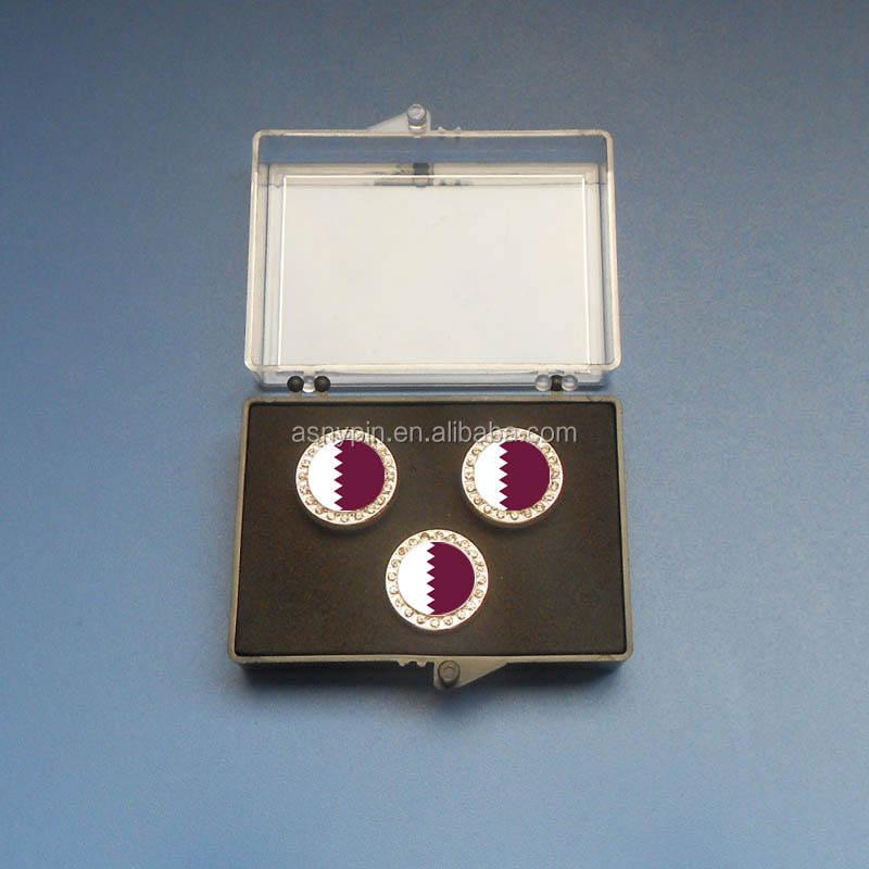 Taiwan Flag Gold-tone Cufflinks Money Clip Engraved Gift Set
