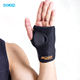 Fashionable neoprene leather wrist brace with metal supportive panel