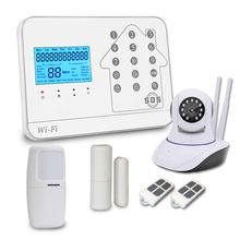 WiFi GSM Home Burglar Alarm System Security + Door Sensors + IP Camera
