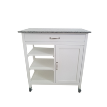 3-tiers  kitchen island with wheels  with marble top kitchen  cart troly