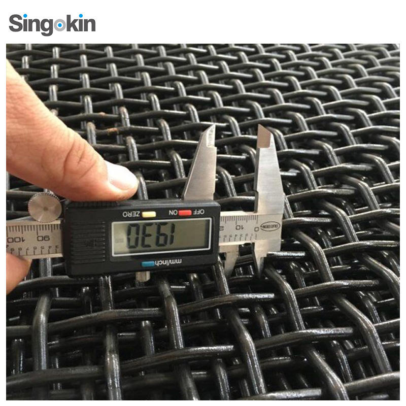 65Mn steel wire High Manganese Stainless Steel Woven Crimped Wire Mesh Manufacture