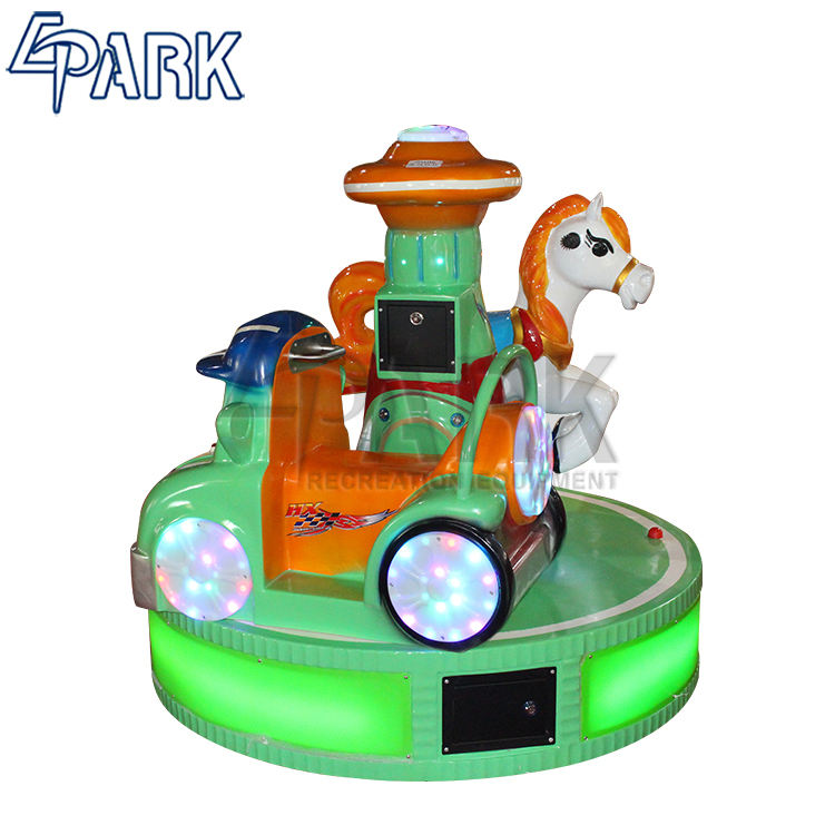 Elektrische Kiddie Ride Horse Carousel Ride Doppelspieler Mini Amusement <span class=keywords><strong>Park</strong></span> Rides