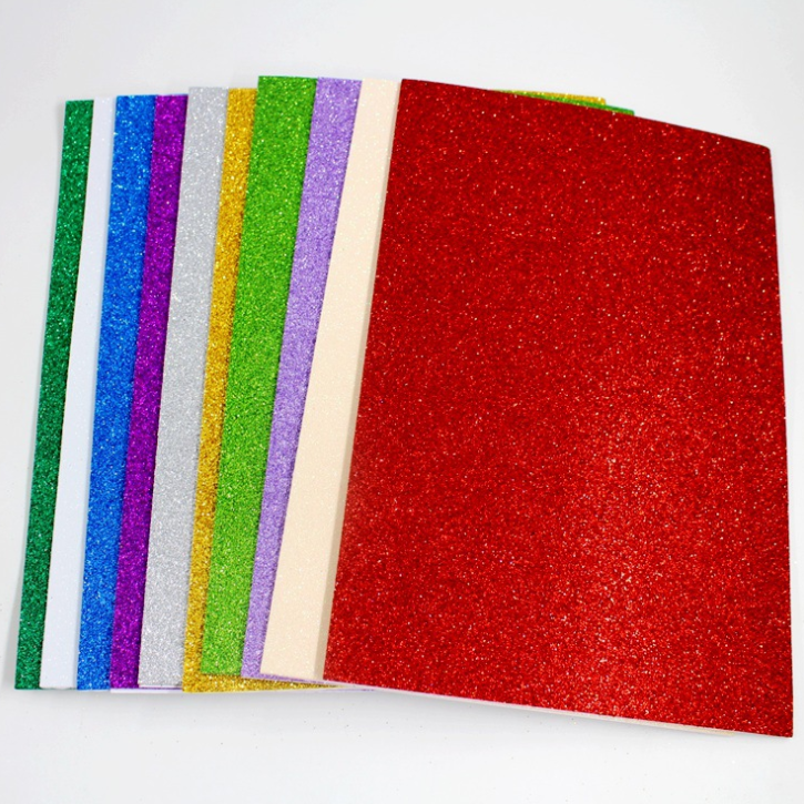 Double sided glitter paper cardstock for card making