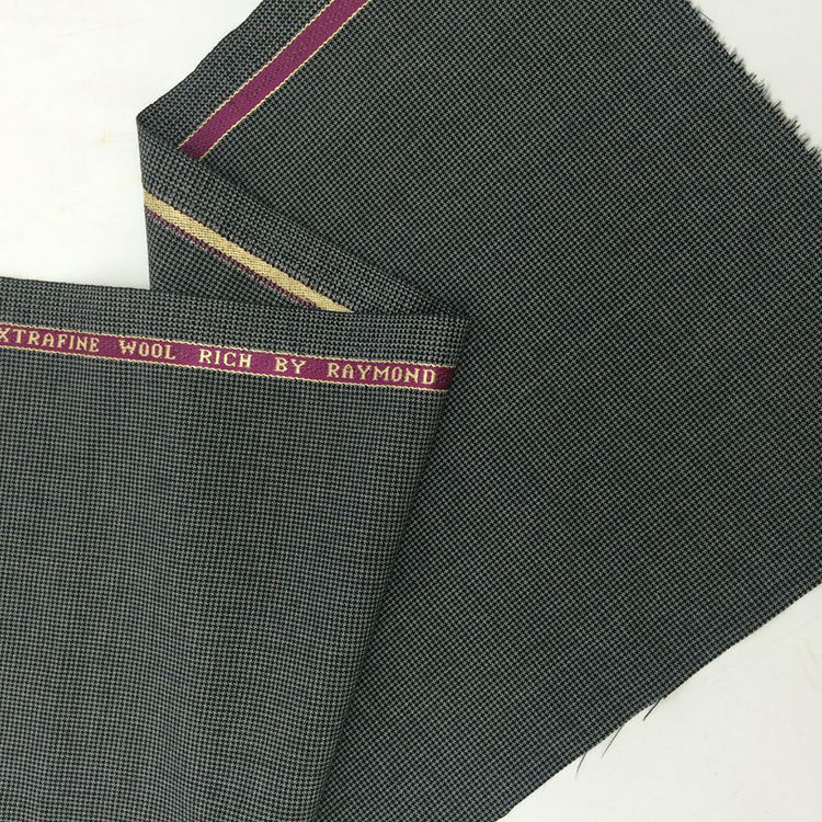 Superfine Wool Poly Woven Swallow Gird Fabric with selvage