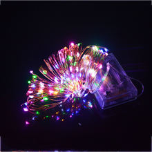 ILED Wholesale Ultra Thin 10M 100leds Garland AA Battery Operated Mini Led Fairy Lights Copper String Light